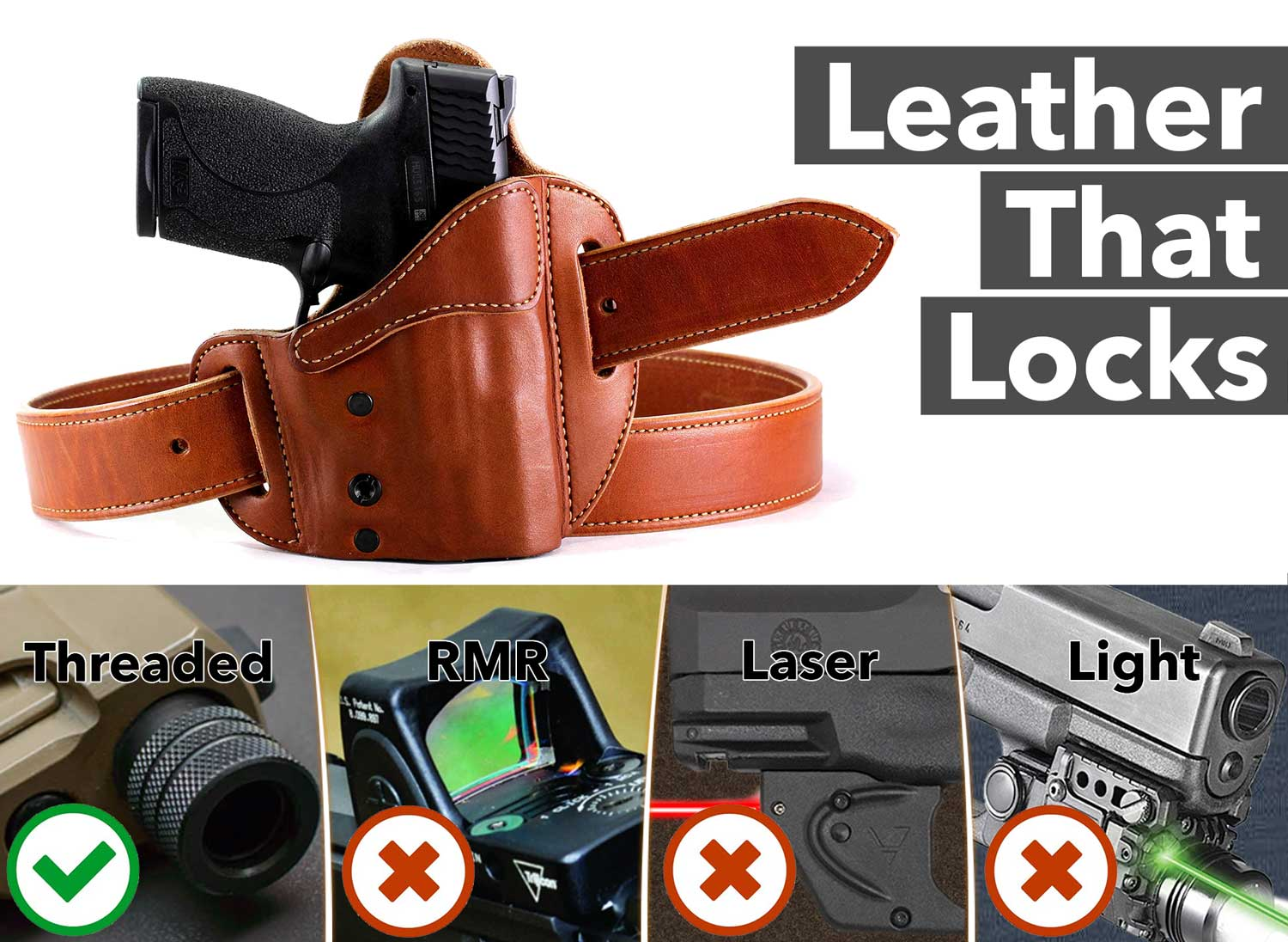 LockLeather Compatible Tactical Features