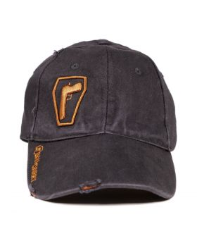 Urban Carry Flex Fit Black Distressed Hat