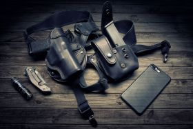 """Smith and Wesson Model M&P 360 3"""" J-FrameRevolver 3in. Shoulder Holster, Modular REVO Left Handed"""