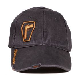 Urban Carry Flex Fit Black Distressed Hat